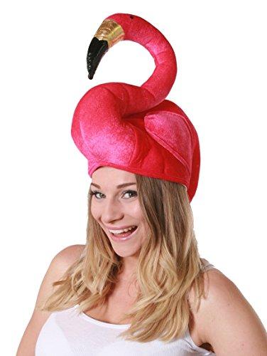 HAWAII FLAMINGO HUT /// LUSTIGER PARTY HUT /// ERHALTBAR IN VERSCHIEDENEN STÜCKZAHLEN = VON ILOVEFANCYDRESS®== 1 FLAMINGO (Kostüm Vogel Kopfbedeckung)