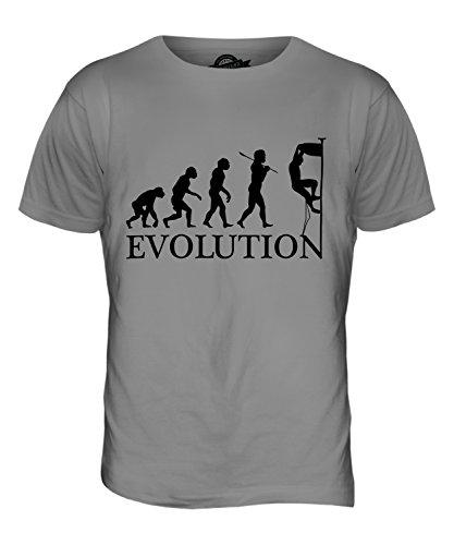 CandyMix Klettern Felsklettern Evolution Des Menschen Herren T Shirt Hellgrau