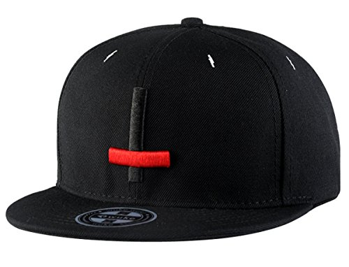 Aivtalk Hiphop Baseball Cap Mütze Schwarz Snapback Unisex Baseball Kappe Hut with Adjustable Strap (Mode Snapback Für Herren)