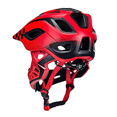 JY88 Childrens Cycle Helmet Boys Girls Cycling Helmet Full/half face Freely Switch 360° Rotate Three-layer Protective Removable Pad,Red,S from JY88