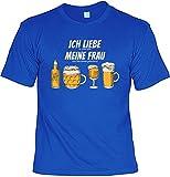 T-Shirt im Set mit Einem Bier Blechschild - Ich Liebe es, Wenn Mich Meine Frau. & 10 Gründe Warum Bier Besser ist als Eine Frau