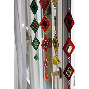 Fensterschmuck Kette aus Buntglas Fenster Deko zum Aufhängen