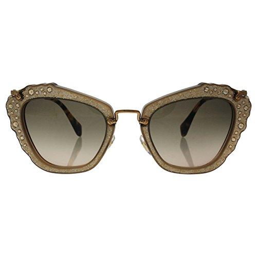 Miu Miu Damen Sonnenbrille Noir MU04QS, Braun (Opal Beige MAR3D0), One size (Herstellergröße: 55) (Miu Miu Sonnenbrille Beige)