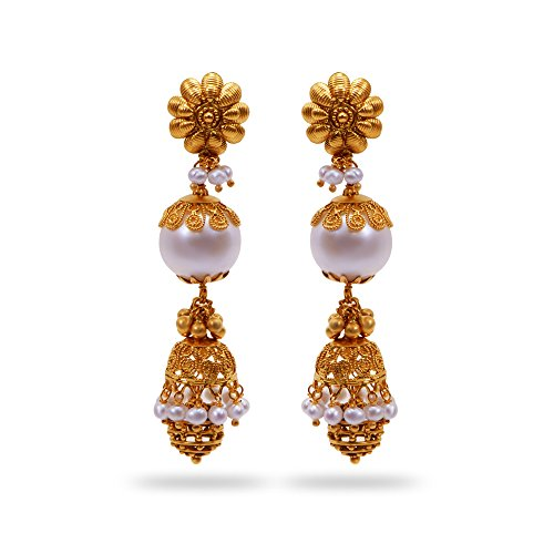 Joyalukkas Apoorva Collection 22k Oxidized Gold Jhumki Earrings