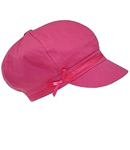 Fiebig Mädchenballonmütze Ballonmütze Ballonkappe Freizeitmütze Sommermütze mit Pferdemotiv aus Glitzersteinen für Kinder (FI-85525-S16-MA2-10-55) in Pink, Größe 55 inkl. EveryHead-Hutfibel