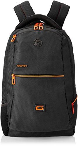 Gear 30 ltrs Black and Orange Casual Backpack (BKP0SPAC40106)
