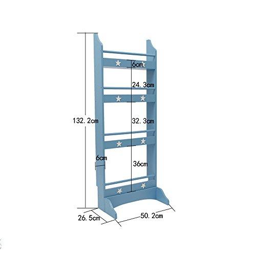 Porte-magazines et porte-journaux Étagères De Revues Simple Landing Woody Shelf Bookstand Blue White (Couleur : Bleu, taille : 1#-50.2cm)