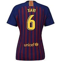 2018-2019 Barcelona Home Nike Ladies Football Soccer T-Shirt Camiseta (Xavi 6)