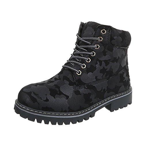 Zapatos para Mujer Botas Tacón Ancho Botines con Cordones Tamaño 38