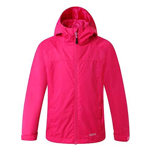 Eono Essentials giacca impermeabile con cappuccio inamovibile per bambiniGiacca vento