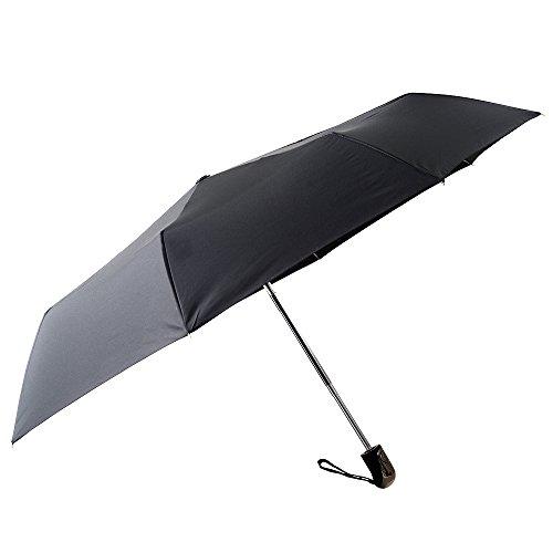 Regenschirm mit automatischem Knopf Taschenschirm Wasserabweisende Beschichtung, Leicht & Kompakt, klein Reiseregenschirm Unisex, Einhandbedienung