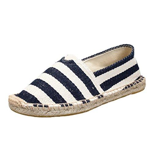 Lvguang Unisex Stoffschuhe Damen Sneaker Freizeitschuhe Espadrilles Flat Profilsohle Schuhe Herren Segeltuchschuhe Stil6, Asia 38 (240cm)