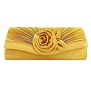 LSAltd Damenmode Square Farbe Blume Kette Clutch Umschlag Abendtasche