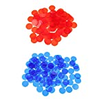 SM SunniMix 1000 Pcs Plastic Poker Chips Bingo Board Games Markers Tokens Kids Counting Toy Family Club Party Supplies