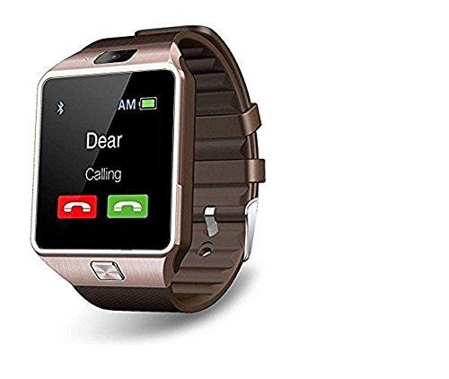 Piqancy DZ09 Wireless Bluetooth Smartwatch with TF/SIM Card Slot & Camera for all Smartphones (Gold)