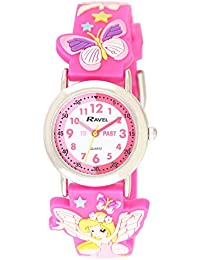 Ravel Children's 3D Pink Fairy Time Teacher Watch
