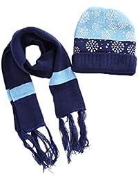 8ddcd09afd38 BESBOMIG Unisexe Hiver Noël Les Enfants Chapeau Écharpe Garçons Filles Bébé  Chapeaux Ensembles - Tricot Bonnet