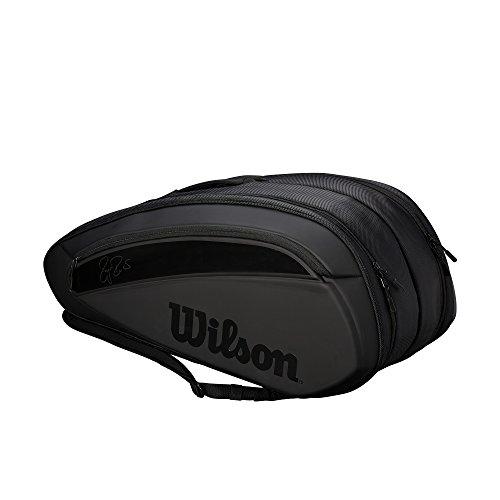 WILSON Sporting Goods Federer DNA 2018Tennis Tasche (12Pack), schwarz (Tennis-taschen Wilson)