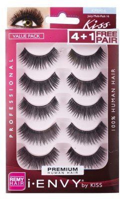 Kiss I Envy Juicy Volume 16 Value Pack 4+1 Lashes by Kiss