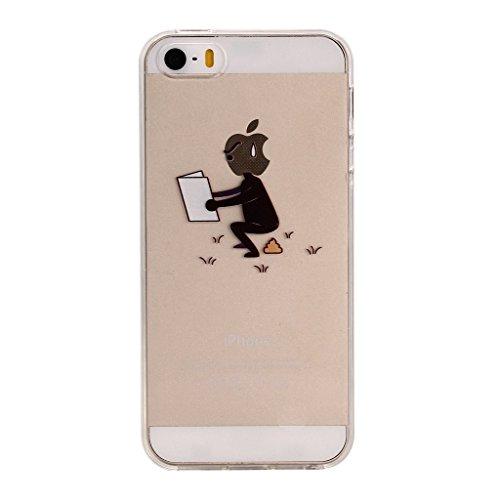 Cover Per iPhone 5C,Hippolo Custodia Protettiva Shell Case Cover Per iPhone 5C in Silicone TPU (Per iPhone 6/6S, 2) 8