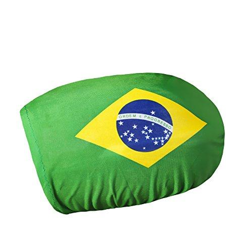 Preisvergleich Produktbild BRUBAKER Außenspiegelflagge BRASILIEN Spiegelflagge im 2er Set