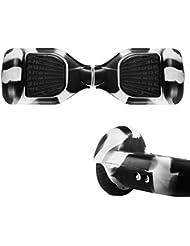 jansroad Full-body Protector de silicona para 6,5pulgadas Smart Dos Ruedas Auto Equilibrio eléctrico Scooter, fácil instalar y limpia, negro y blanco