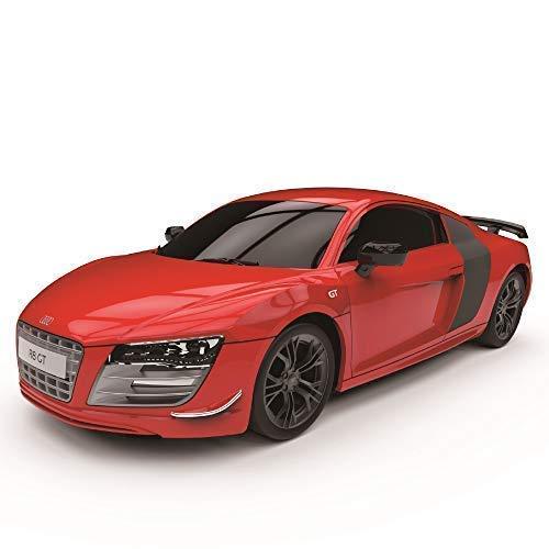 Cmj RC Cars Audi R8 Gt, Offiziell Lizenziert Fernbedienung Auto für Kinder mit Working Lights, RC Jungen Mädchen 1:24 Modell 2,4ghz Race 10 + Autos Zusammen Rot