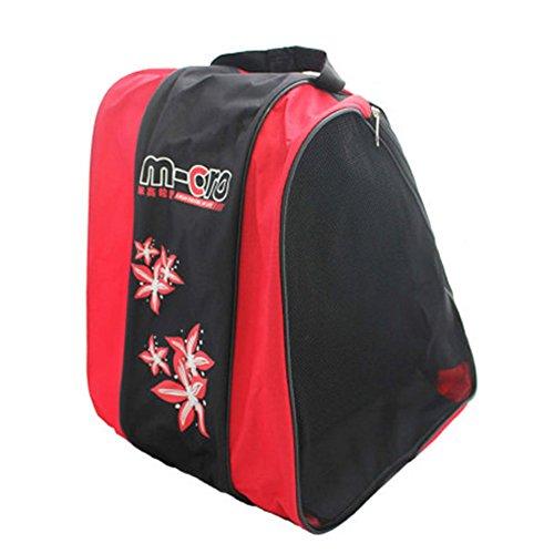 Basong Schlittschuhtasche Kinder Damen Tasche für Schlittschuhe Skateschuhe Rollschuhe