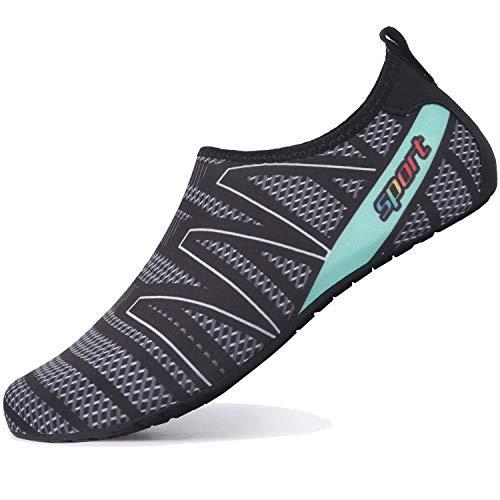L-RUN Frauen Wasser Haut Schuhe für Outdoor Wassersport Breathable M_schwarz M (B: 4-5)