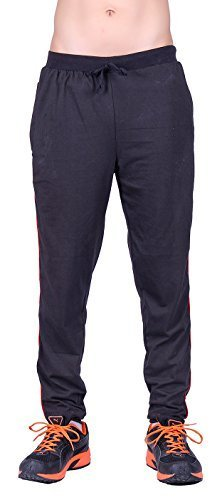Dfh Men's Cotton Sports Trousers (Mprbl001-32 _Black)