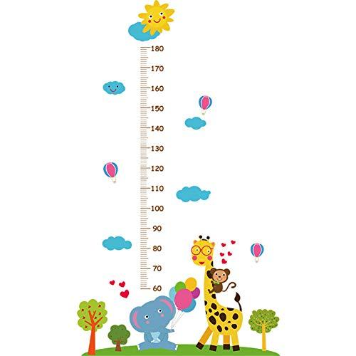 Qtli Wall Sticker Cartoon Giraffe Elephant Measuring Height Sticker Children'S Room Porch Kindergarten Dress Up Wall Stickers (Giraffe Up Dress)