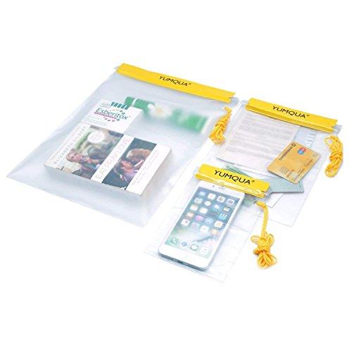 YUMQUA Wasserdichte Beutel, Trockene Tasche Wasserdichte Tasche für Kameras/Handys/iPad/ Dokumententasche, Geeignet für Reisen/Zuhause/Außen/Wassersport Kamera Case Bag Pouch