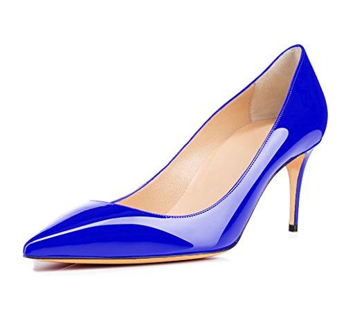 Escarpins uBeauty Taille Talon Chaussures Femmes Chaussures 65MM Bleu Grande Stilettos Haut Femme Talons Aiguille Chaussures Talon drgCWrc1