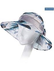 LWT - sombrero de seda sombrero femenino hembra afluencia de verano de sombrero de playa al aire libre elegante sol sombrero de playa de verano