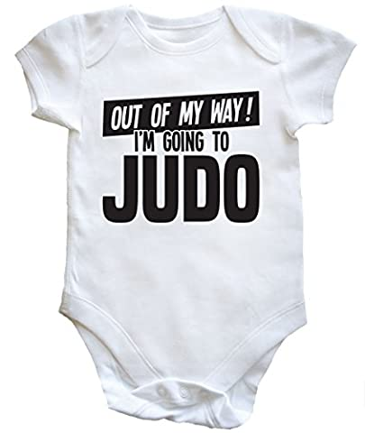HippoWarehouse Out of My Way I'm Going to Judo baby vest boys girls