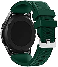 Correas para Samsung Gear S3 Frontier Sannysis Banda de pulsera de silicona deportiva color ejercito verde