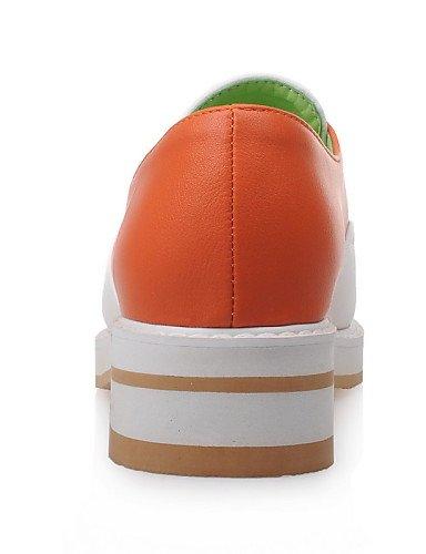 ZQ gyht Scarpe Donna-Mocassini-Casual-Comoda-Basso-Finta pelle-Nero / Arancione , orange-us5 / eu35 / uk3 / cn34 , orange-us5 / eu35 / uk3 / cn34 orange-us5.5 / eu36 / uk3.5 / cn35