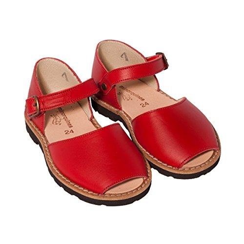 Minorquines - Sandales Frailera Boucle Pomodoro - Enfant Rouge