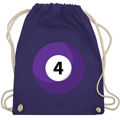 Karneval & Fasching - Billardkugel 4 Kostüm - Unisize - Lila - WM110 - Turnbeutel & Gym Bag
