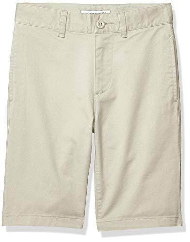 Amazon Essentials Flat Front Uniform Chino shorts, Light Khaki, 14(S) -