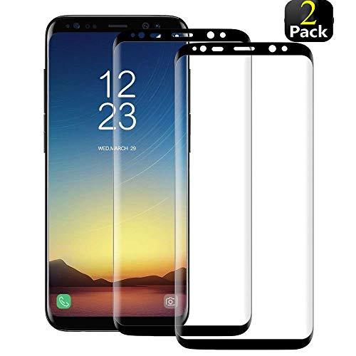 Phonis Panzerglas für Samsung Galaxy S8,3D Vollständigen Abdeckung,9H Härtegrad,Anti-Kratzen,Anti-Bläschen,Hülle Fre&llich,Ideal Schutzfolie für Galaxy S8
