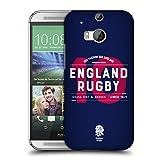 Head Case Designs Offizielle England Rugby Union Nummer 10 2018/19 Typografie Ruckseite Hülle für HTC One M8 / M8 Dual SIM