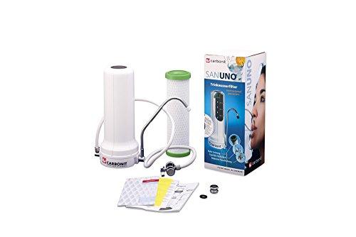 Carbonit Wasserfilter SANUNO Classic | Auftischgerät mit TÜV-geprüftem Aktivkohlefilter NFP Premium | Anschlussfertiges Trinkwasser-Filtersystem | Qualität _ Made in Germany