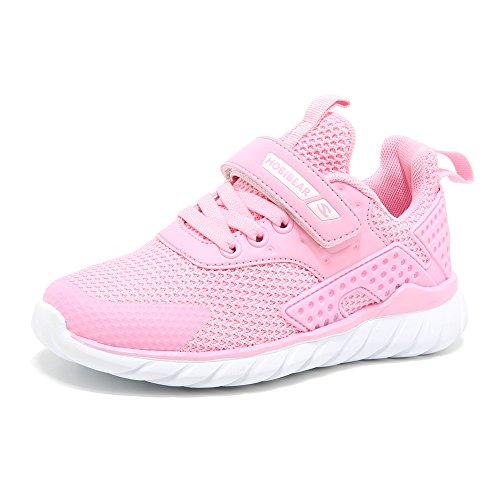 Turnschuhe Kinder Sneaker Jungen Sportschuhe Mädchen Hallenschuhe Outdoor Laufschuhe Für Unisex-Kinder Rosa 29 EU