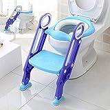 Töpfchentrainer Toiletten-Trainer, Kinder Töpfchen Kinder-Toilettensitz mit Leiter Töpfchen Sitz mit Treppe 75 Kg belastbar (Color : Lila, Size : -)