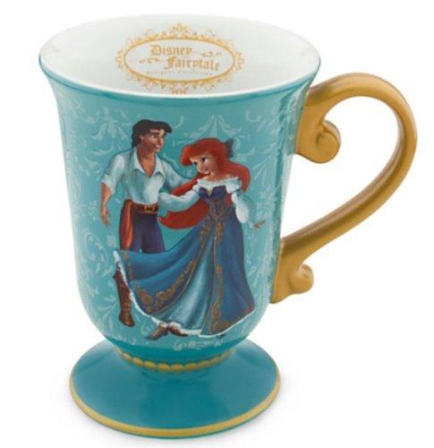 (Disney Store Disney Märchen Designer Collection Prinzessin Ariel und Prinz Eric Tasse: The Little Mermaid Kaffee Tasse)