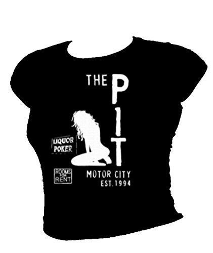 Motif corbeau de la fosse CLUB-T-Bird's gangs'local.. Thème Film T-shirt pour femme Noir - Noir