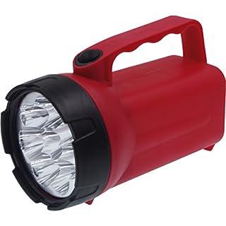 Ampercell Batteriebetriebener Handscheinwerfer Rot/Schwarz 00838 LED 60h