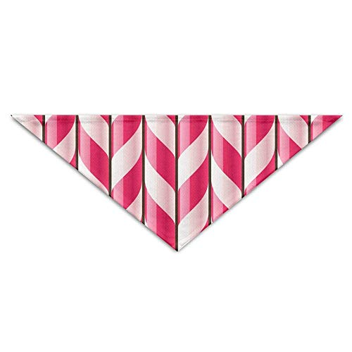 Qefgjbw Candy Cane Triangle Neckerchief Bibs Scarfs Accessories for Pet Cats and Baby Puppies The Saliva Dog Towel