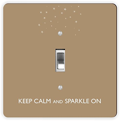Rikki Knight Keep Calm and Sparkle auf braun Color-Single Toggle Lampe Switch - Lichtschalter Single